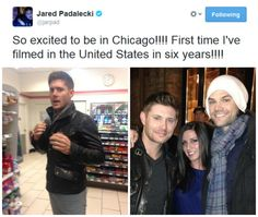 jared tweets omg the first pic of jensen…his outfit<3