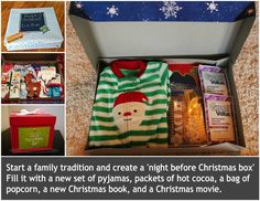 Night Before Xmas Box! Oh so going to start this tradition with my family. Christmas Eve has always been my favorite night of the holiday, maybe our kiddos will start to feel the same way too!