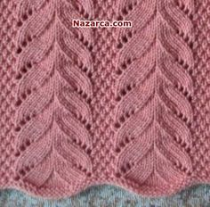 Knitting Videos, Easy Knitting, Knitting For Kids, Lace Knitting Stitches, Knitting Patterns, Crochet Patterns, How To Purl Knit, Crochet Granny, Beautiful Crochet
