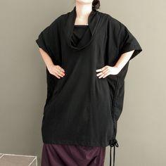 Ladies Blouse Plus SizeTunic Double Neck  Unique by thaisaket, $42.00