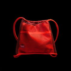 Knitted Bags, Drawstring Backpack, Neon, Backpacks, Design, Fashion, Moda, Backpack