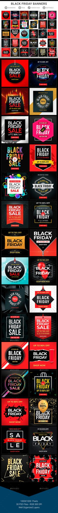 Buy Black Friday Banners by sunilpatilin on GraphicRiver. Black Friday Banners Black Friday Banners are designed for all kind of sales events and e-commerce event. The banners. New Years Sales, Christmas Sale, Black Friday, Banners, Flyers, Adobe, Sports, Blog, Women