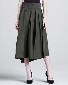 Jersey-Waist High-Low Skirt by Donna Karan at Neiman Marcus.