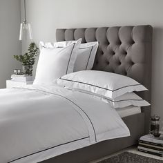 Luxury Savoy Bed Linen Collection | Bed Linen Collections | The White Company US