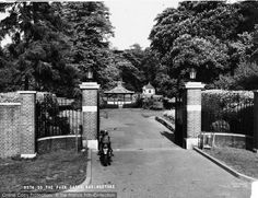 Photo of Basingstoke, The War Memorial Park Gates c.1955, from Francis Frith