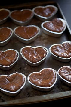 heart shaped brownies....