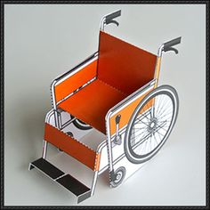 This paper model is a Wheelchair, designed by Yoshinaka. You can download the papercraft model template here: Wheelchair Free Paper Model Download