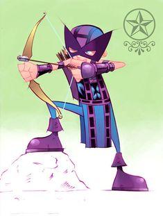 27 Astonishing Hawkeye Illustrations | Naldz Graphics