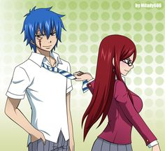 Jellal Fernandes and Erza Scarlet (Jerza) from Fairy Tail