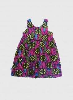 #Kwadusa Carmen kjole pink flower