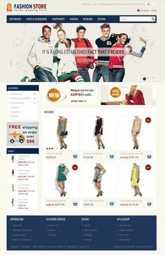 Fashion OpenCart Template is specially designed for fashion clothes and women stores. Fashion Store OpenCart Template is looking good with it's colors combination. All sub pages are customized. It is very nice with its clean and professional look.