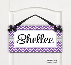girls bedroom #nurserydecor name plaque purple by kasefazem, $16.99