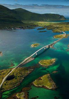 Ocean road in Norway