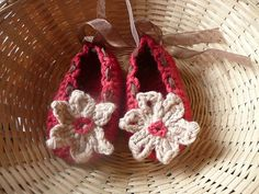 Ravelry: Flower Fairy Baby Shoes pattern by Katy Farrell