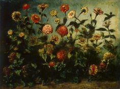 Flowers, 1833, oil on canvas, Eugene Delacroix