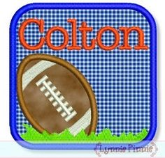 Football Frame Applique - 4 Sizes! | Font Frames | Machine Embroidery Designs | SWAKembroidery.com Lynnie Pinnie