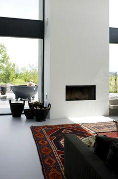 Simple form of the fireplace. Prosta forma kominka. #fireplace #simple #kominek