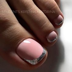 Glitter French For Toe Nails ❤ 40+ Incredible Toe Nail Designs for Your Perfect Feet ❤ See more ideas on our blog!! #naildesignsjournal #nails #nailart #toes #toenaildesigns #toenails Bright Nail Designs, Different Nail Designs, Creative Nail Designs, Pretty Nail Designs, Pretty Nail Art, Creative Nails, Shellac Designs, Pedicure Designs, Toe Nail Designs