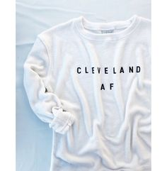 Cleveland AF Cozy Crewneck Sweater - Oatmeal Colored