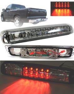 Chevrolet Gmc Silverado Sierra Clear Chrome Red Led 3rd Third Brake Stop Lamp Light 1999 2000
