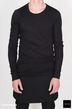 Rick Owens DOUBLE LONG SLEEVES T - black 273 € | Seven Shop