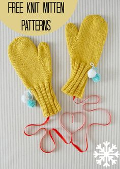 16 Free Knit Mitten Patterns | AllFreeKnitting.com Who doesn't love to feel the fuzzy warmth of knit mittens around their fingers? Even if you live in a warmer climate, you probably have friends that could use one of these free knit mitten patterns. Get cozy, kid-friendly mitten patterns for your little tikes or knit some warm, luxurious mitts for yourself!
