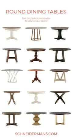 Round Dining Table Round-Up Dining Room Table, Table And Chairs, Dining Chairs, Dining Rooms, Round Dining Tables, Round Farmhouse Table, Small Dining, Table Decorations, Furniture