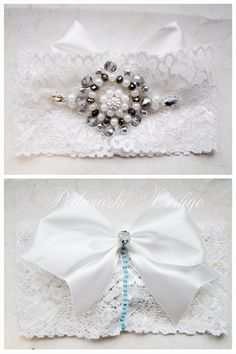 lace garter with crystals, pearls and bow, source:     http://www.vertigo.com.pl/projekty/podwiazki/#prettyphoto[gallery]/1/