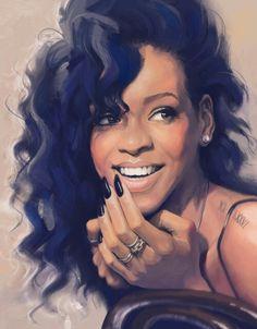 I love this drawing of Rihanna