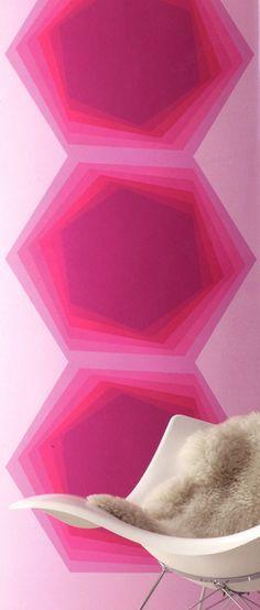 Panel Magenta Hexagon Karim Rashid | designyourwall.com