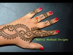 easy simple mehndi henna designs for hands tutorials|Matroj Mehndi Designs|Design-3 - YouTube