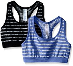 Jockey Womens 2 Pack Reversible Tonal Space Dye Seam Free Sport Bra BlackPeriwinkle Medium -- Check out the image by visiting the link.(This is an Amazon affiliate link and I receive a commission for the sales)