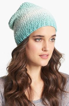 Tildon Slouchy Ombré Beanie available at #Nordstrom.  Latest addition to the wardrobe.