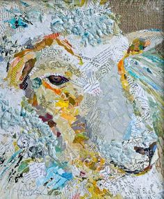 Sheep art collage – Cow Art and More
