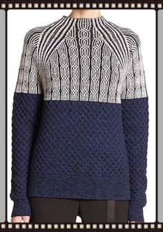 INSPIRED DESIGN Proenza Schouler adds to the mixed-knit trend we've been seeing a lot of for Fall
