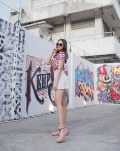 Tampilan Imut Anya Geraldine dengan Rok Mini, Gemes Deh Shirt Dress, T Shirt, Bikini, Collection, Dresses, Fashion, Bikini Beach, Shirtdress, Tee