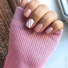 143 classy nails art sparkling silver color for spring and summer - page 6 White Nail Designs, Short Nail Designs, Nail Art Designs, Shellac Nail Designs, Stylish Nails, Trendy Nails, White Nails, Pink Nails, Nagellack Design