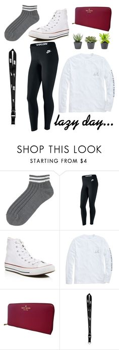 """""""lazy day."""" by cnditionally on Polyvore featuring Uniqlo, NIKE, Converse, Vineyard Vines and Kate Spade"""