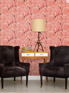 Flamingoes from Wallpaper Direct. http://www.wallpaperdirect.com/products/albany/flamingos/91686