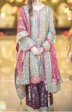 Party & bridal wear made on order Pakistani Party Wear Dresses, Desi Wedding Dresses, Shadi Dresses, Designer Party Wear Dresses, Pakistani Bridal Dresses, Pakistani Dress Design, Indian Designer Outfits, Pakistani Mehndi Dress, Pakistani Designers