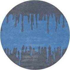 Hand-tufted Mandara Geometric Grey New Zealand Wool Rug (7'9 Round)