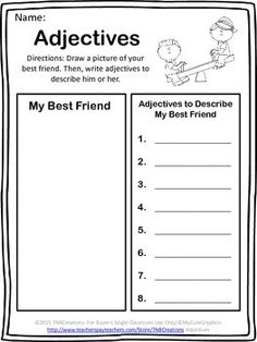 Adjectives: Have fun learning about adjectives with these flash cards and printables!