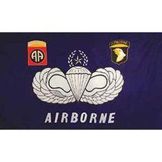 U.S. Army 82nd & 101st Airborne Flag 3ft x 5ft . $3.99. This is a new U.S. Army 82nd & 101st Airborne Flag 3ft x 5ft