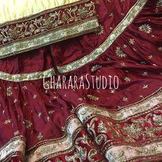 Bridal silk Gharara in maroon and golden colour.  Look Royal on your Nikah.  #Gharara #ghararastudio #ghararastudiobyshazia #ghararadesign #ghararah #ghararafashion #ghararalove #ghararadesign #bridal #bride #wedding #weddingdress #weddings #nikah #fashion #fashionblogger #fashionstylist #fashiongram #fashionblog #blog #indianfashionblogger #indianfashion #indianstylist #indiandress #indiantradition #style #glamour #dupatta