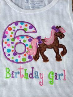 Personalized / Pony Shirt / Girls Pony Birthday Shirt / Girl Horse Birthday Shirt by OurLilBowtique, $25.00