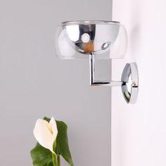Wandleuchte-Wandlampe-Leuchten-Chrom-Lampen-Flurlampe-Wandfluter-Fluter-Design