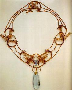 Lalique aquamarine necklace