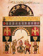 Castle clock by Al-Jazari in 1206