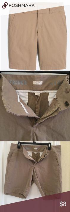"J Crew ""Frankie"" shorts J Crew ""Frankie"" khaki shorts. Size 14. In good used condition J. Crew Shorts"