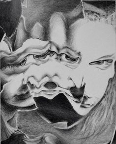 Anna Bumgarner, Self Portrait, 2013, Graphite on Paper.